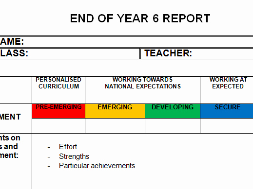 End Of Year Reports Templates Elegant End Of Year Report Template Editable by Learningboost