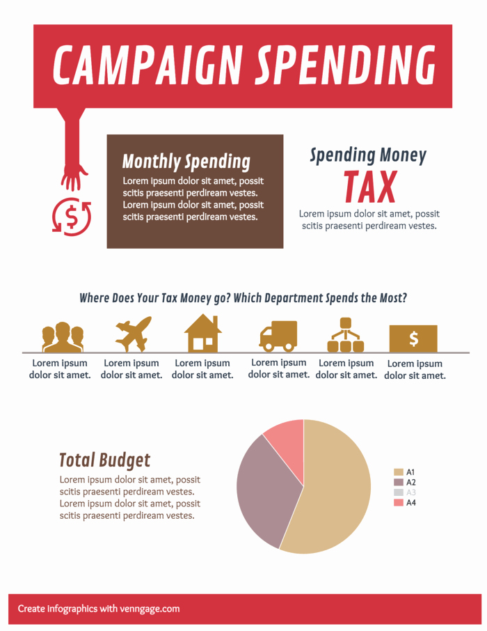 End Of Year Reports Templates Inspirational Campaign Spending Infographic Template Template Venngage