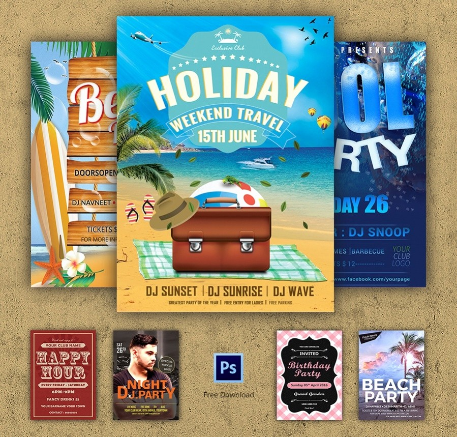 Enter to Win Flyer Template Awesome 48 Free Flyers Corporate Party Fashion