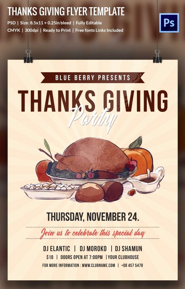 Enter to Win Flyer Template Beautiful 69 Thanksgiving Design