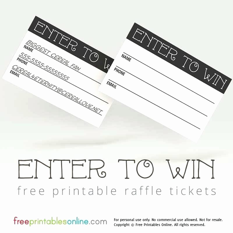 Enter to Win Flyer Template Beautiful Free Raffle Ticket Templates for Word Dinner Fundraiser