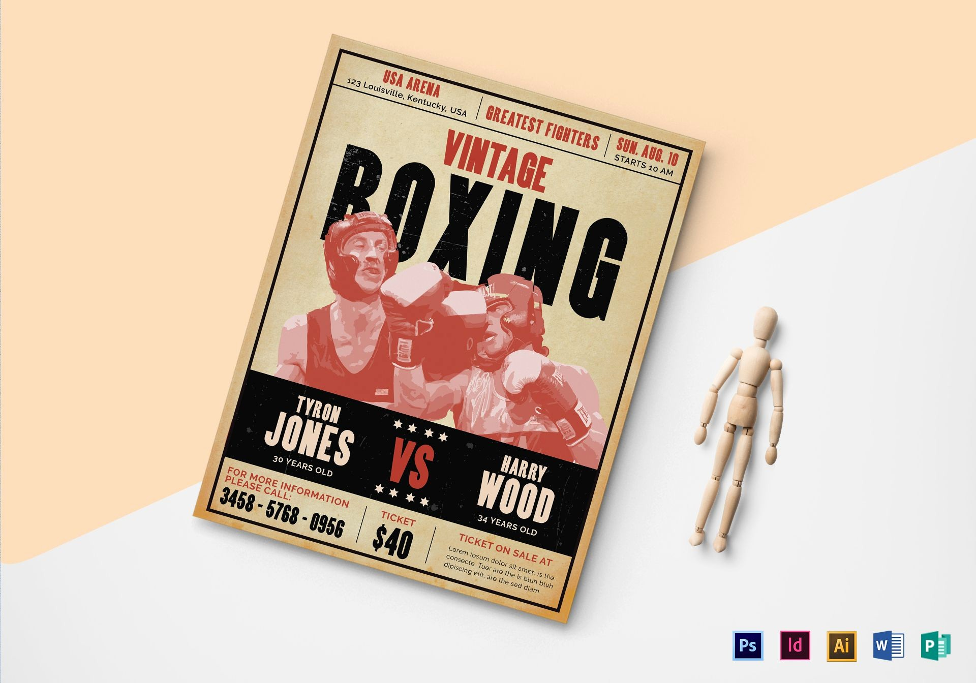 Enter to Win Flyer Template Beautiful Vintage Boxing Flyer Design Template In Psd Word
