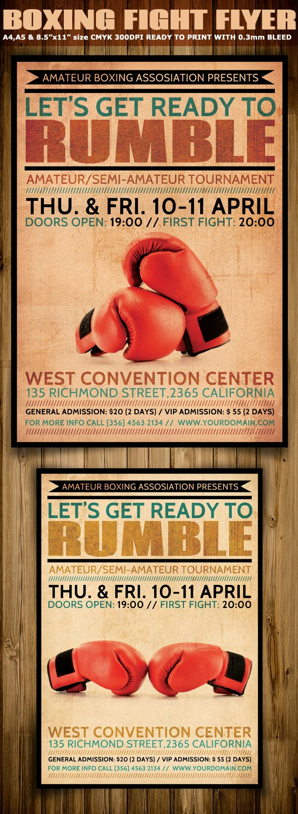 Enter to Win Flyer Template Fresh Boxing Flyer Template