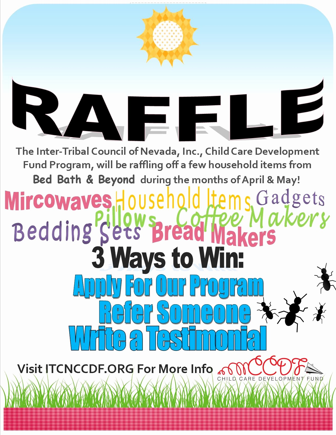 Enter to Win Flyer Template Fresh Itcn Ccdf Raffle Itcn Child Care Development Fund