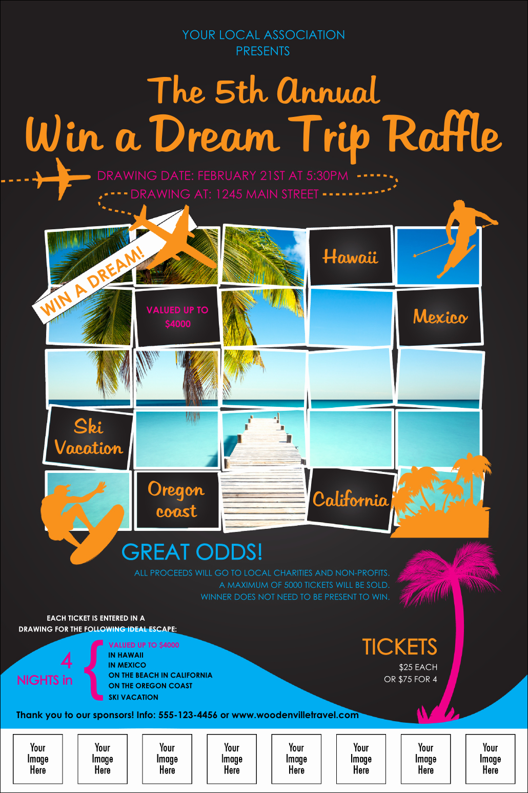 Enter to Win Flyer Template Fresh Win A Vacation Logo Poster