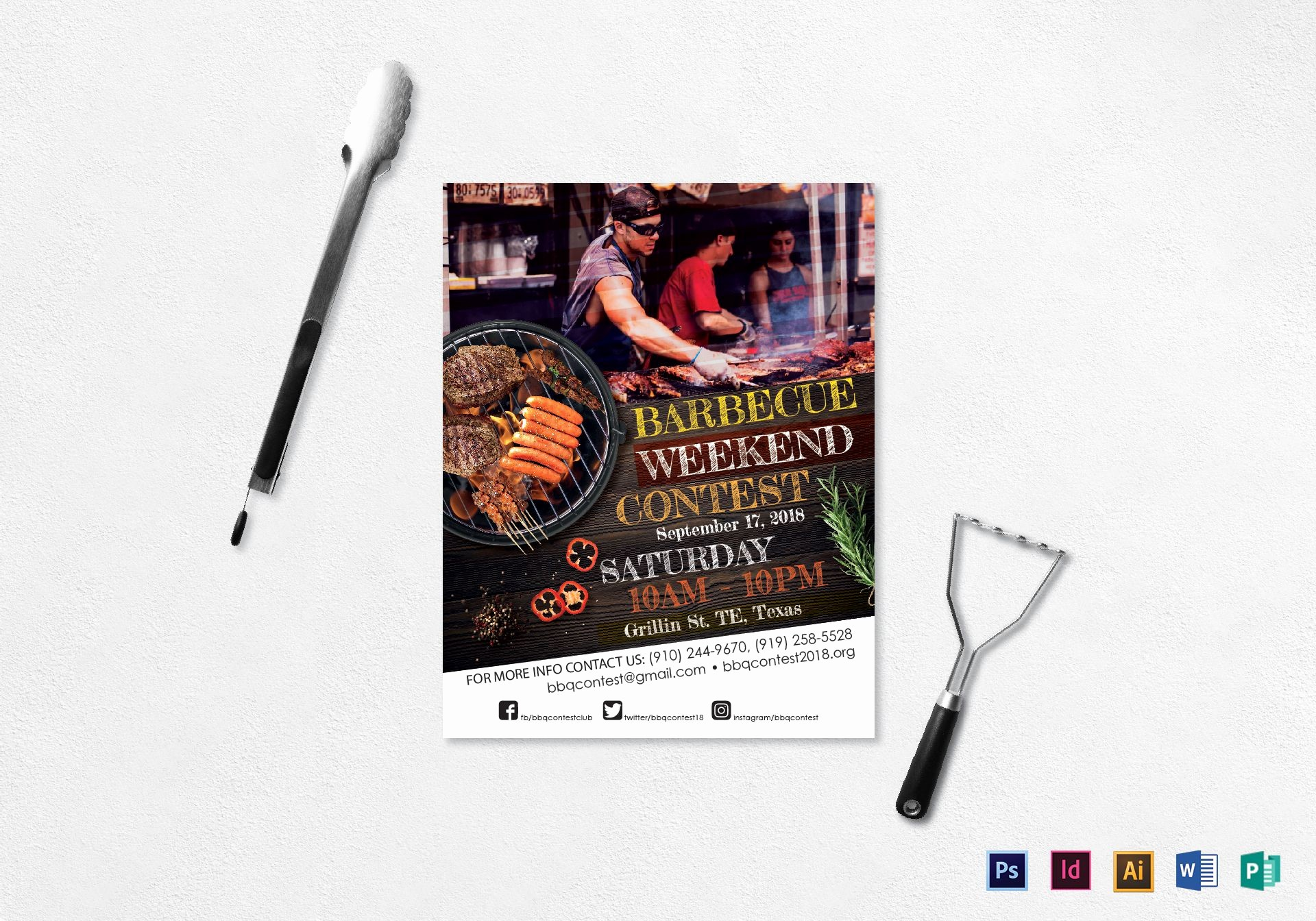 Enter to Win Flyer Template Lovely Bbq Contest Flyer Design Template In Psd Word Publisher