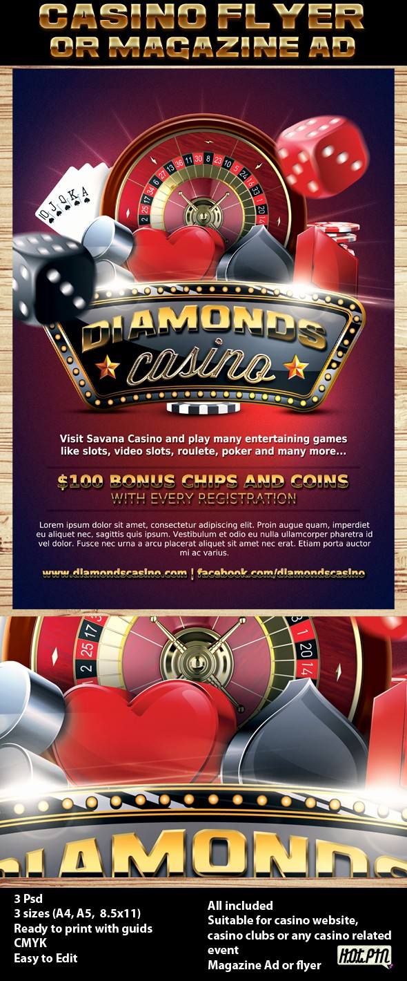 Enter to Win Flyer Template Lovely Casino Magazine Ad or Flyer Template 7