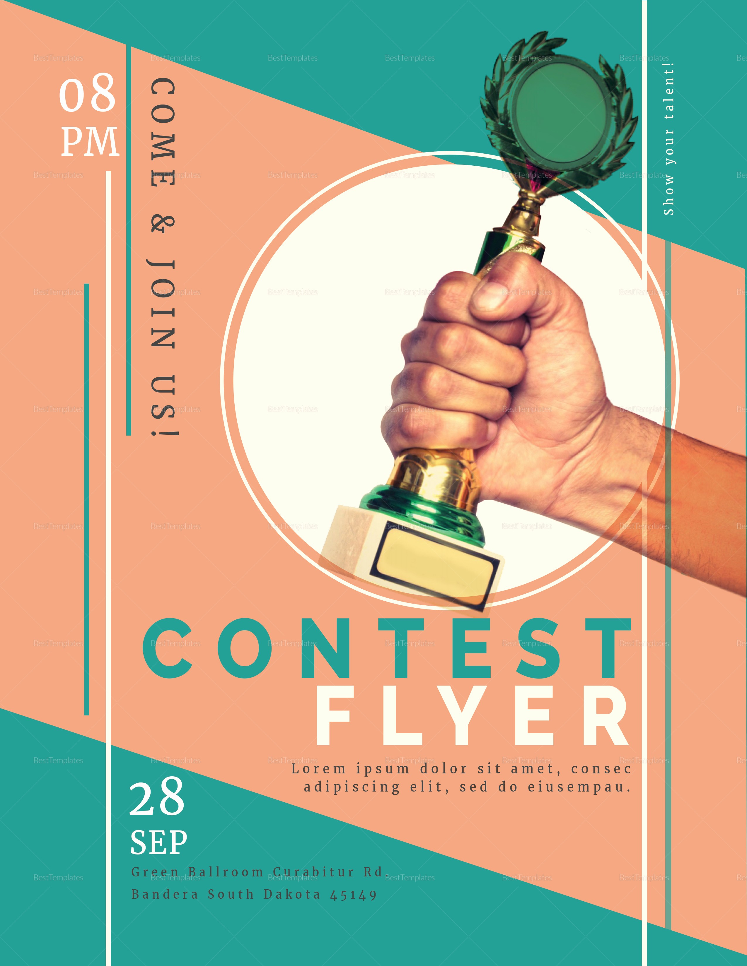 Enter to Win Flyer Template Luxury Prize Contest Flyer Design Template In Psd Word