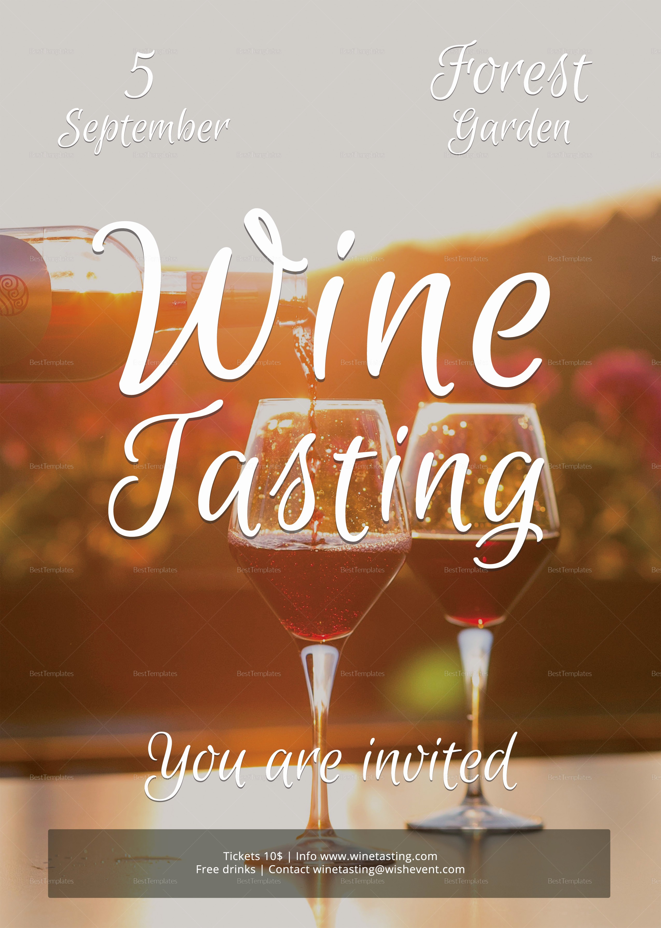 Enter to Win Flyer Template Luxury Wine Tasting Flyer Design Template In Psd Word Publisher