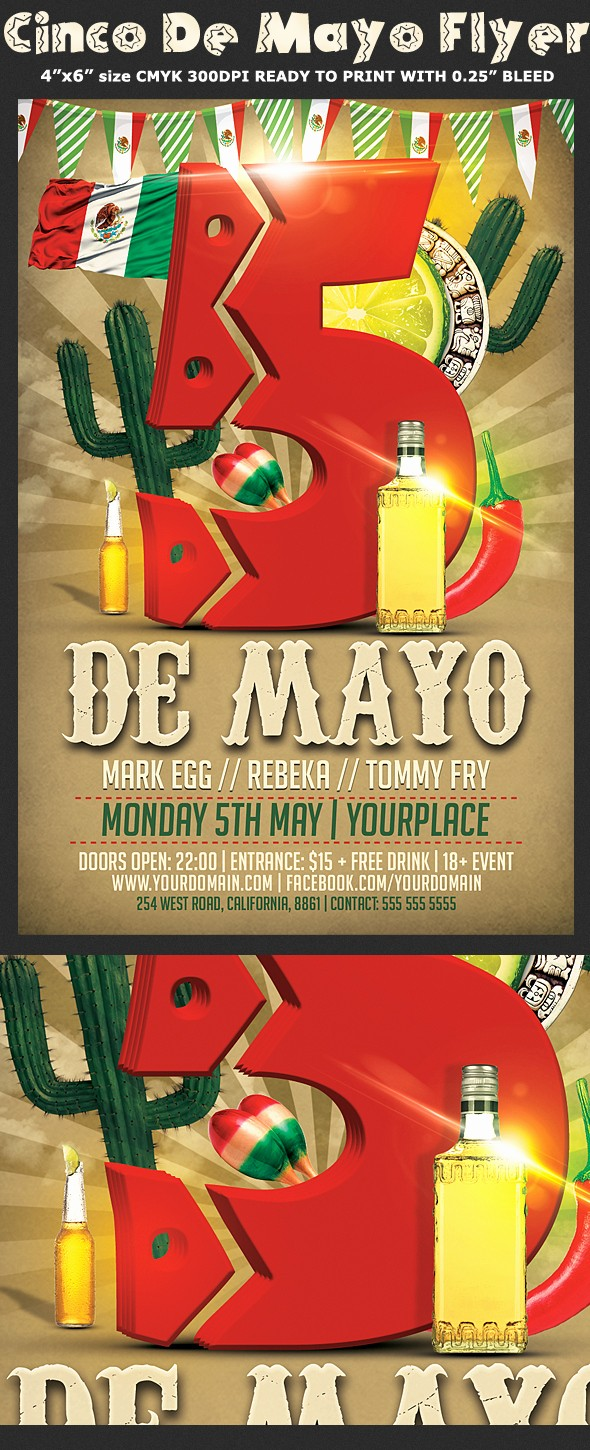 Enter to Win Flyer Template New Cinco De Mayo Flyer Template
