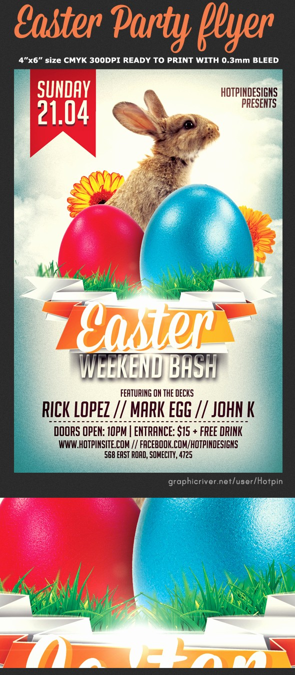 Enter to Win Flyer Template New Easter Party Flyer Template