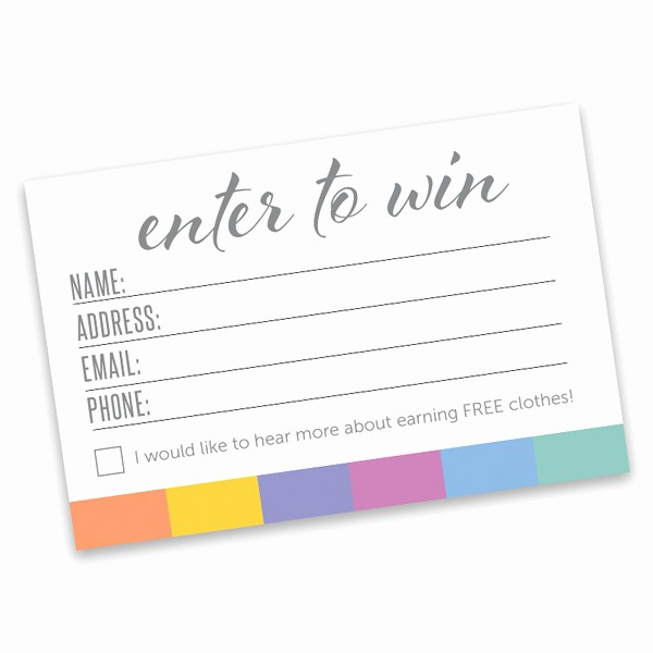 Enter to Win Raffle Template Awesome Enter to Win Template Pertamini