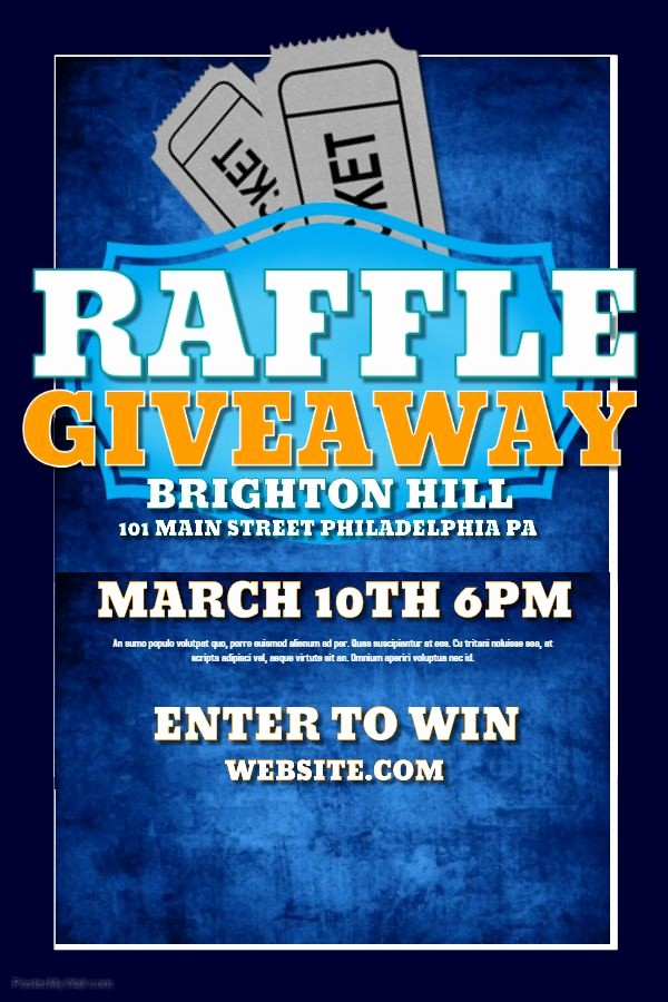 Enter to Win Raffle Template Awesome Raffle Flyer Template for Giveaways