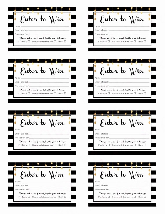 Enter to Win Raffle Template Beautiful Register to Win form Template to Pin On Pinterest