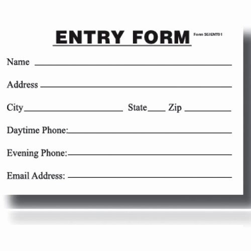 Enter to Win Raffle Template Best Of Blank form Gks Printers
