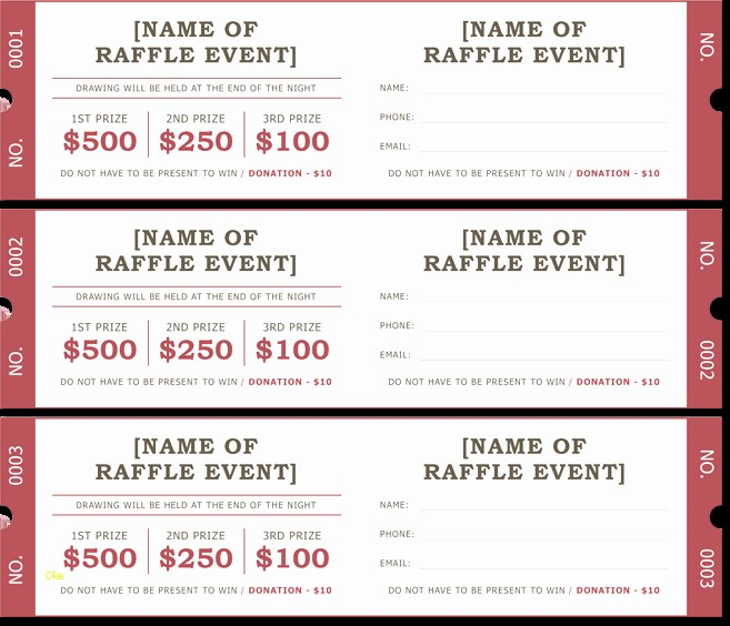 Enter to Win Raffle Template Best Of Enter to Win Template Luxury 20 Free Raffle Ticket