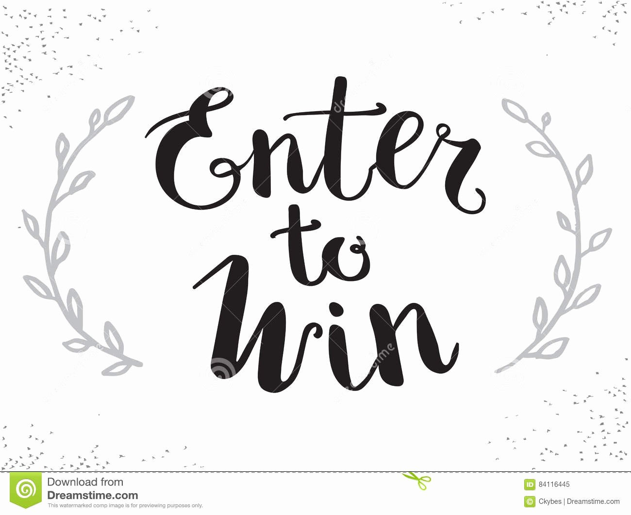 Enter to Win Raffle Template Fresh Enter to Win Vector Sign Win Prize Win In Lottery Stock