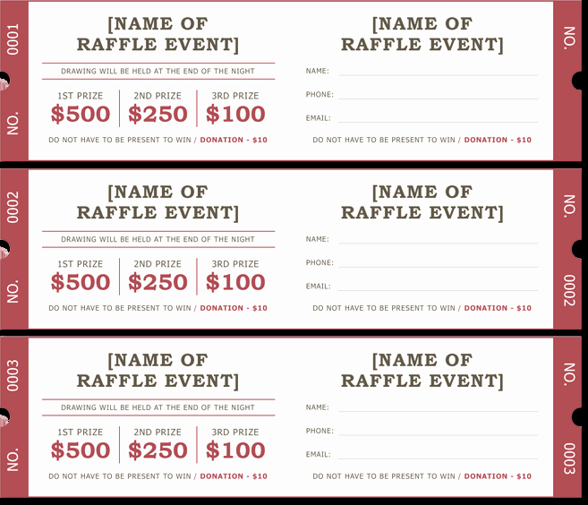 Enter to Win Raffle Template Lovely 20 Free Raffle Ticket Templates with Automate Ticket