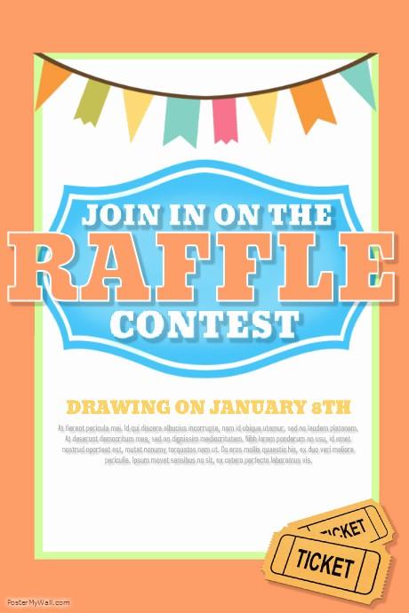 Enter to Win Raffle Template Lovely Design A Winning Raffle Flyer