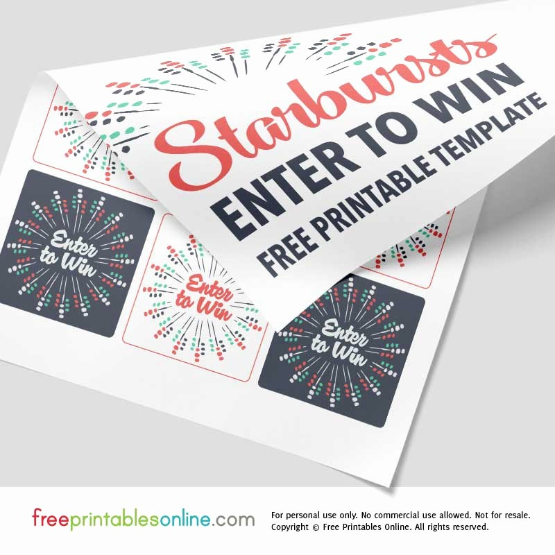 Enter to Win Raffle Template New Free Enter to Win Template