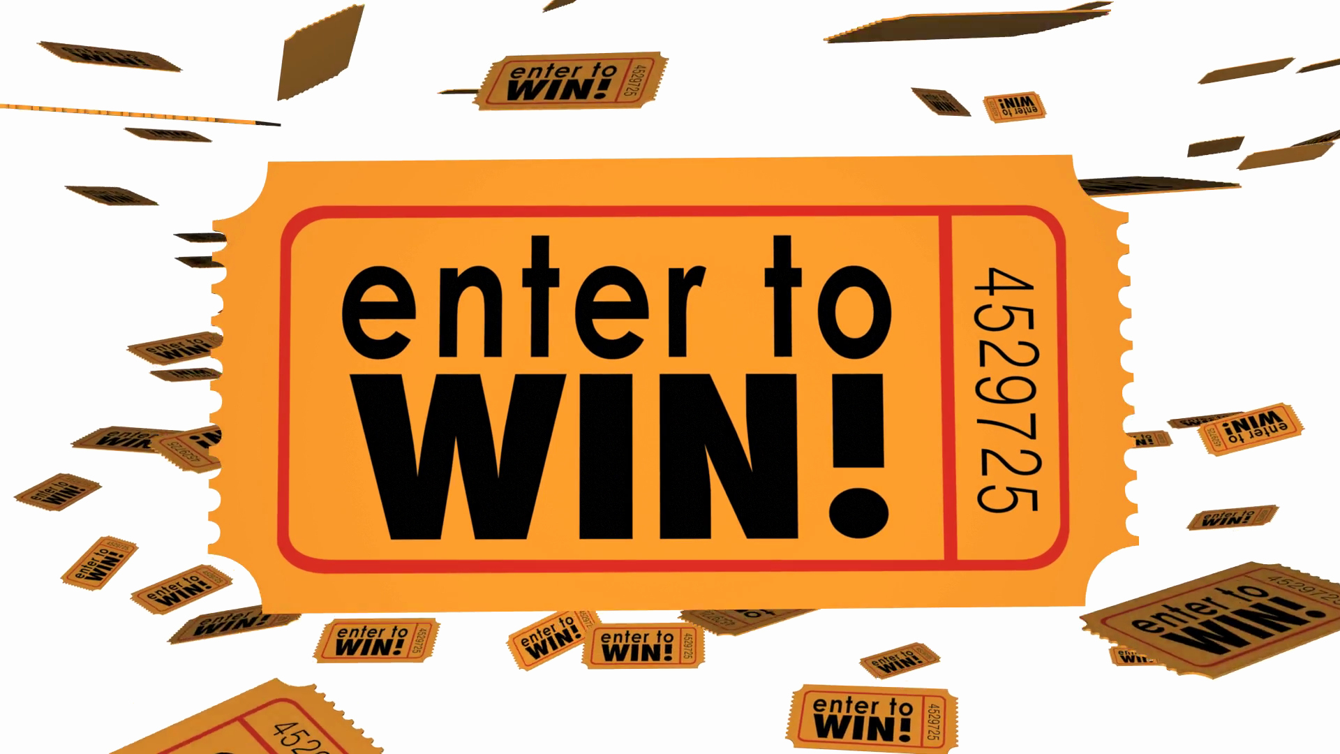 Enter to Win Raffle Template Unique Enter to Win Contest Raffle Lottery Ticket Words Lucky 3 D