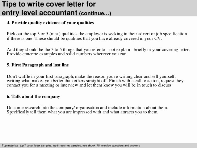 Entry Level Job Cover Letter Unique Entry Level Accountant Cover Letter