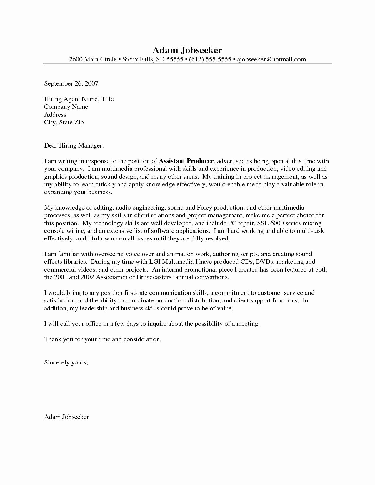 Entry Level Resume Cover Letter Elegant Entry Level Cover Letter Example Job Pinterest