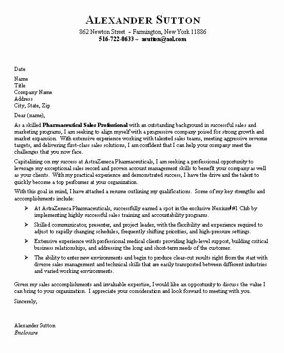 Entry Level Resume Cover Letter Fresh Pharmaceutical Sales Entry Level Resume