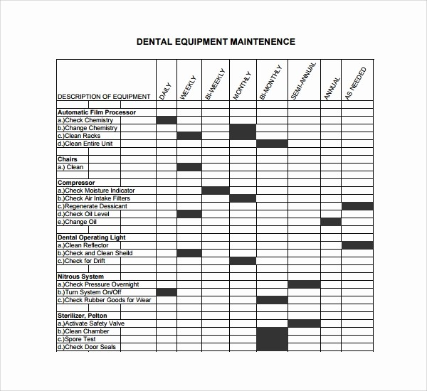 Equipment Maintenance Log Template Excel Lovely 10 Maintenance Log Templates to Download
