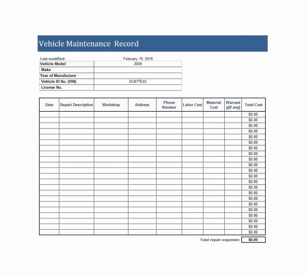 Equipment Maintenance Log Template Excel Lovely Equipment Maintenance Spreadsheet Spreadsheet Downloa Farm