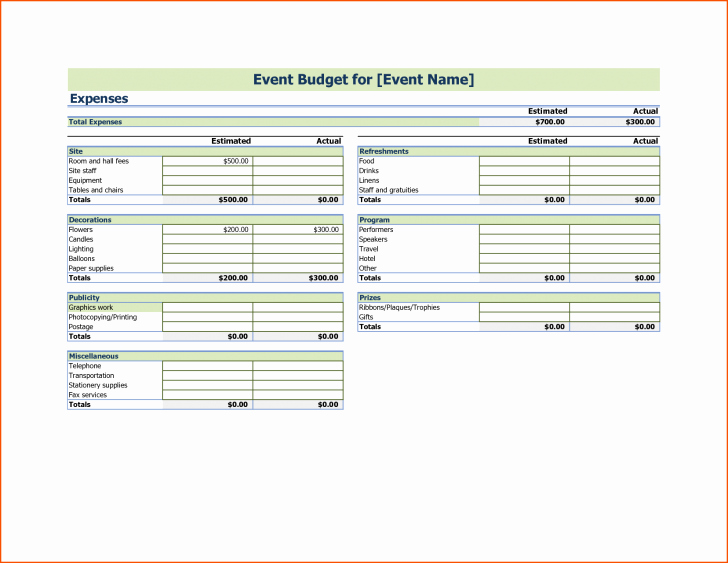 Event Budget Template Google Docs Awesome Template event Bud Template