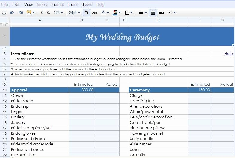 Event Budget Template Google Docs Unique Fabulously Ever after Weddings & events Google Docs