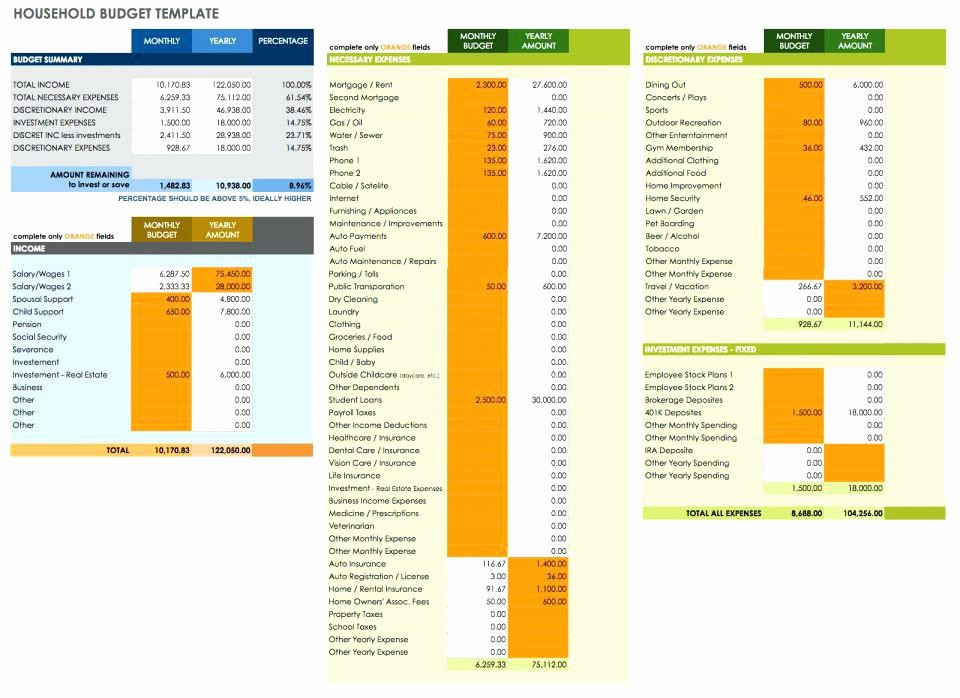 Event Budget Template Google Docs Unique Household Bud Template Monthly Spreadsheet Excel Home