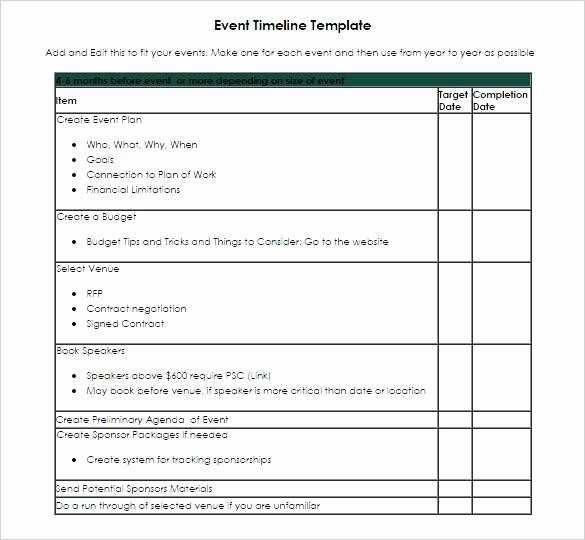 Event Planning Timeline Template Excel Beautiful event Planning Timeline Template