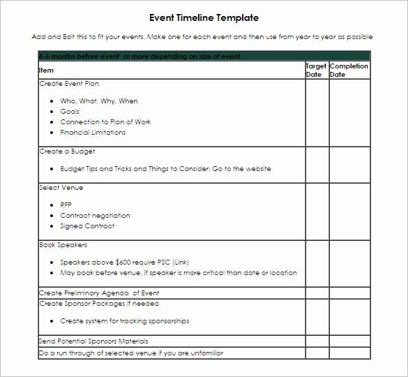 Event Planning Timeline Template Excel Inspirational Timeline Template 67 Free Word Excel Pdf Ppt Psd