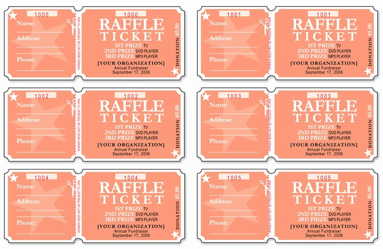Event Tickets Template with Numbers Awesome 12 Free event Ticket Templates for Word Make Your Own