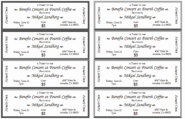 Event Tickets Template with Numbers Best Of 10 Free event Ticket Templates for Word and Adobe