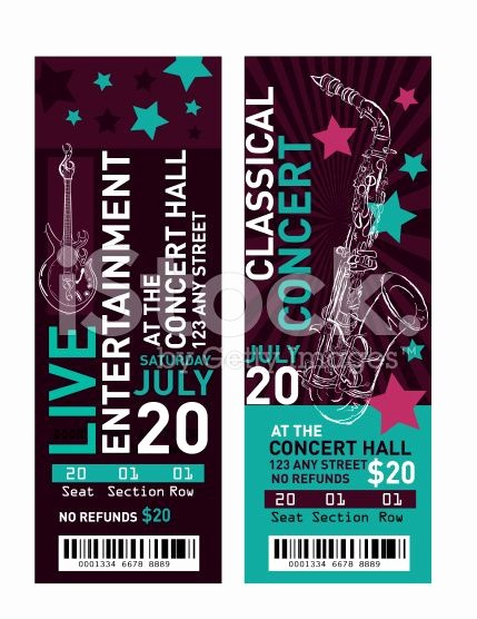 Event Tickets Template with Numbers Best Of 25 Unique Free Concert Tickets Ideas On Pinterest