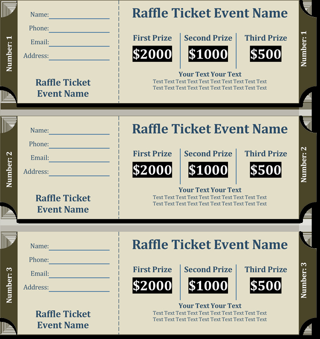 Event Tickets Template with Numbers Lovely 20 Free Raffle Ticket Templates with Automate Ticket