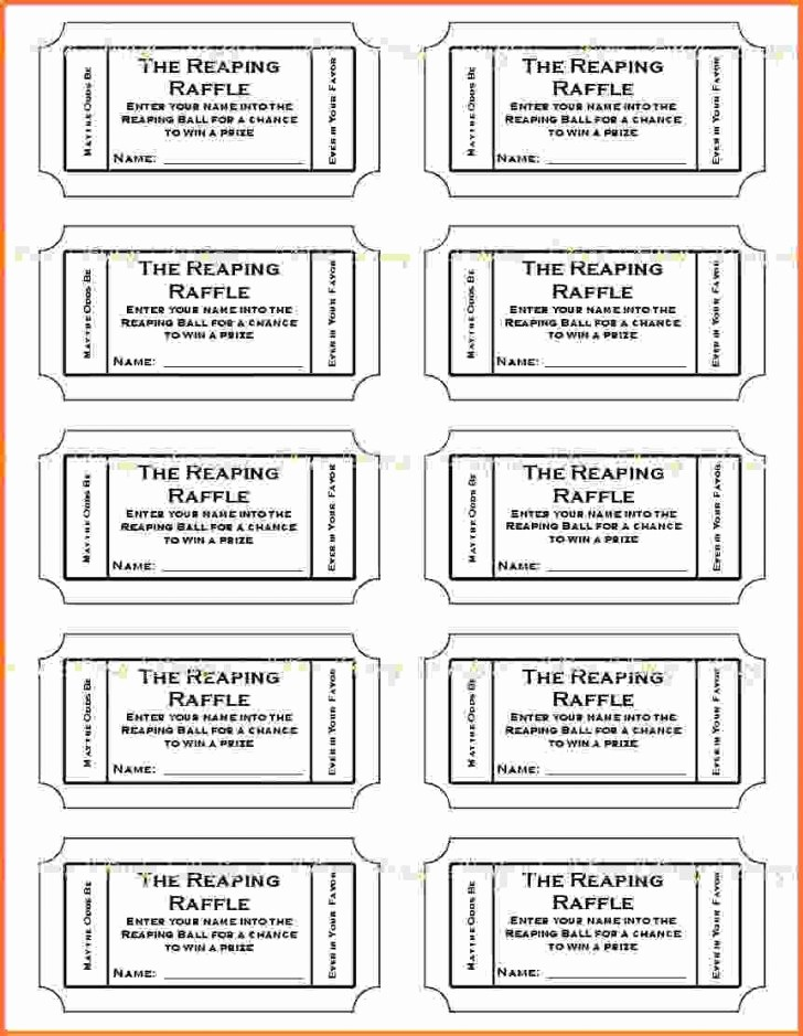 Event Tickets Template with Numbers New Template Raffle Ticket Template