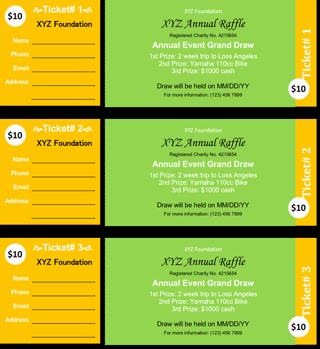 Event Tickets Template with Numbers Unique 20 Free Raffle Ticket Templates with Automate Ticket
