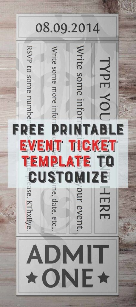Event Tickets Template with Numbers Unique Free Printable event Ticket Template to Customize