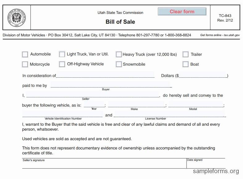Example Car Bill Of Sale Fresh Free Printable Free Car Bill Of Sale Template form Generic