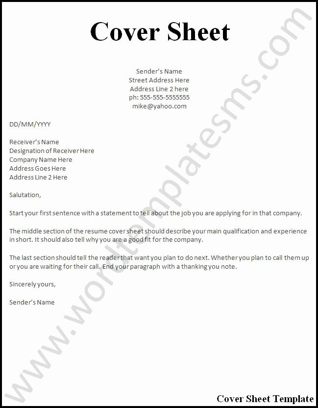 Example Cover Sheet for Resume Fresh Resume Cover Page Examples Cover Letter Samples Cover
