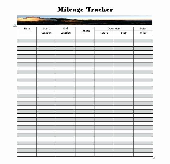 Example Mileage Log for Taxes Elegant Mileage Log Sheet Printable Mileage Log Template Mileage