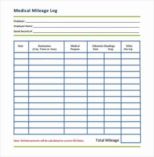 Example Mileage Log for Taxes Elegant Mileage Log Template 14 Download Free Documents In Pdf Doc