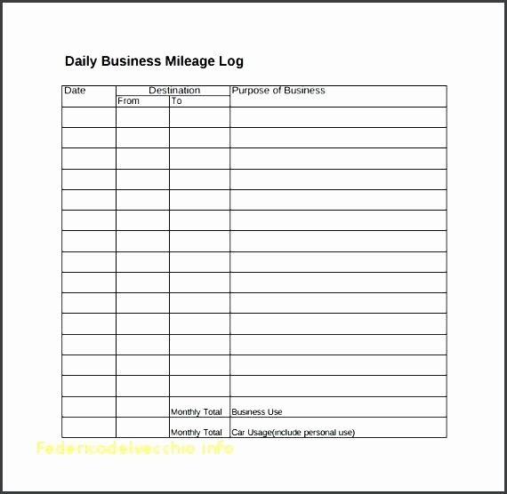 Example Mileage Log for Taxes Elegant Printable Mileage Log Templates Free Template Lab Book for