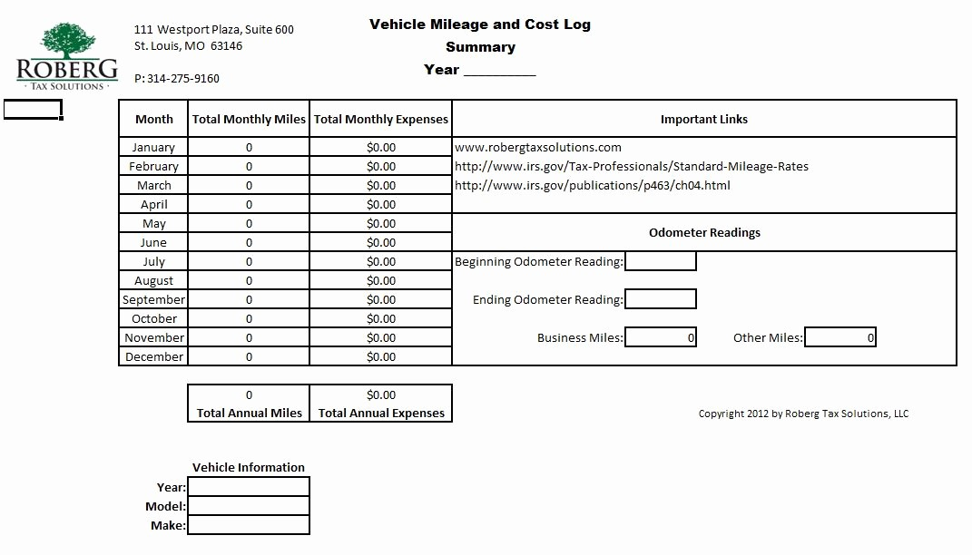 Example Mileage Log for Taxes Inspirational Mileage Log
