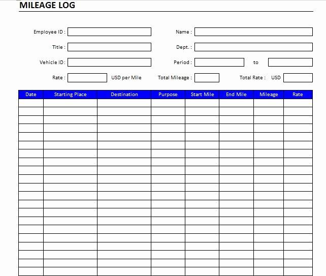 Example Mileage Log for Taxes Luxury 22 Printable Mileage Log Examples Pdf