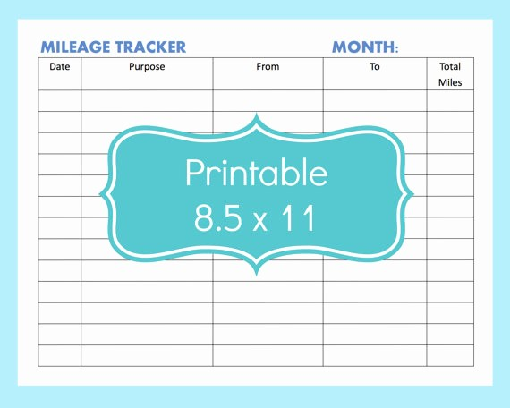 Example Mileage Log for Taxes Luxury 22 Printable Mileage Log Examples Pdf